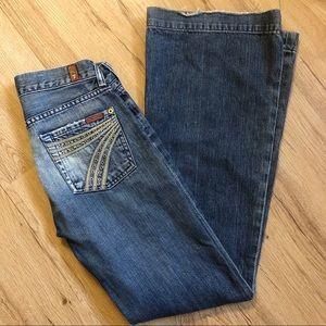 7 For All Mankind Dojo Flare Jean Size 24